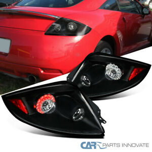 For Mitsubishi 06-11 Eclipse Replacement LED Tail Lights Brake Rear Lamps Black