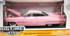 JADA BIG TIME KUSTOMS 1959 CADILLAC COUPE DE VILLE PINK 1/24 DIECAST CAR 96801