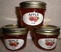 Fresh APPLE JELLY 1/4 Pint (4 oz.) Organic, No Chemicals, FREE SHIPPING