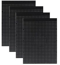 "WallPeg Case of 12 Ea. 24"" x 32""  Black Pegboard Panels 1/4"" Hole Polypropelene"
