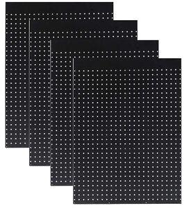 """WallPeg Case of 12 Ea. 24"""" x 32""""  Black Pegboard Panels 1/4"""" Hole Polypropelene"""