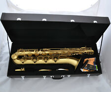 Professional TaiShan Yellow Antique Baritone Saxophone Sax +Germany Mouth 2 Neck