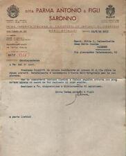 SARONNO 1939 Lettera commerciale DITTA PARMA ANTONIO & FIGLI
