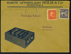 SWEDEN 1920's ELECTRIC BATTERIES ADVERTISING COVER