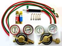 "Propane, Oxygen Jewelers' Torch Kit, 2"" Regulators, Flash Arrestor, Smith TYPE"