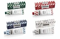 PRORASO SHAVING CREAM GREEN, WHITE, RED, BLUE TUBES 150ml