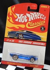 Hot Wheels Classics 1967 Camaro Convertible Spectra Flame Blue Spoke 5 Goodyear
