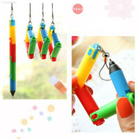 3411 2PCS Folding Ballpoint Ball Pen School Student Writing Stationery Supplies