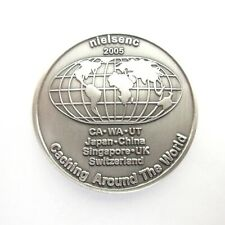 NielsenC  2005 Geocoin New Trackable Unactivated Brass Geocaching Coin