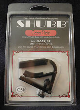 New Original Shubb C5K Capo Noir Black Chrome Banjo Capo with cap, Free Shipping