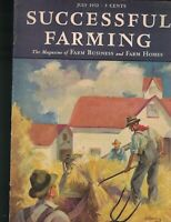 Successful Farming Magazine July 1932 Dairy Livestock Poultry Haying Cover