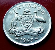 Mulitple Error Varieties on a 1963 AUSTRALIA SIXPENCE, Holder included with coin