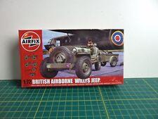 Airfix Británico Airborne Willys Jeepset 1 72 -a02339