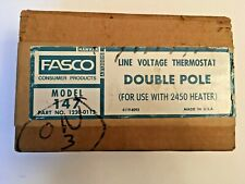 Fasco Thermostat For 2450 Heater Double Pole Newunopened Model 147