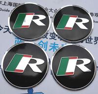 "4x 56mm 2.2"" Car Wheel Center Hub Cap Emblems Badge Decal for Jaguar R Racing"