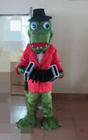 2018 Halloween Crocodile Mascot Costume Suits Cosplay Party Game Dress Adults Us