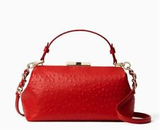 NWT Kate Spade Victoria Falls Madeline Ostrich Leather Handbag $528 NEW