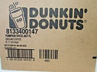Dunkin Donuts Pumpkin Spice Flavored Coffee 11 oz Sealed Bags (6 Pack) BB 08/20