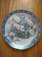 """1992 First Issue """"Roses"""" Lena Liu's Basket Bouquets Collectible Plate"""