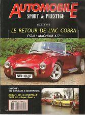 AUTOMOBILE SPORT & PRESTIGE 14 MAGNUM 427 DE LA CHAPELLE 55 FERRARI MYTHOS PININ