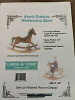 Woodworking Plans.  Family Tradition. Large  Wood Rocking horse Plan.
