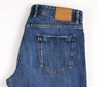 Massimo Dutti Hommes Décontracté Jeans Jambe Droite Taille W34 L34 APZ738