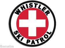 "4"" WHISTLER BC CANADA SKI PATROL HELMET CAR BUMPER DECAL STICKER MADE IN USA"