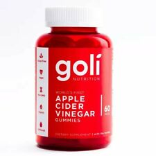 New listing Goli Nutrition Apple Cider Vinegar Gummies Supplement, 60 Pieces, Exp 2022