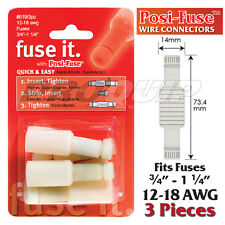 POSI-LOCK 12-18 AWG FUSE HOLDER & WIRE CONNECTORS, REUSABLE, NO SPLICING - 3 PK