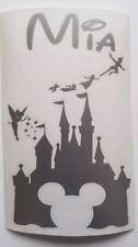 PERSONALISED NAME & MICKEY DISNEY CASTLE WALL/DOOR ART VINYL STICKER