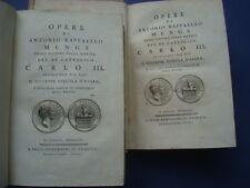 OPERE DI ANTONIO RAFFAELLO MENGS PITTORE DEL RE CATTOLICO CARLO III-1783-VOL 1-2