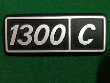 FIAT 1300 C METAL BADGE SCRITTA EMBLEM NOS