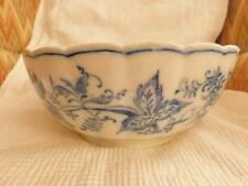 """ANTIQUE VILLEROY & BOCH DRESDEN LARGE BOWL 10 1/4"""" blue and white"""