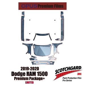 3M PRO Series PreCut Paint Protection Clear Bra Kit for Dodge RAM 1500 2019-2020