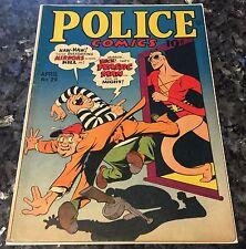 POLICE COMICS#29, 1944, VG/FINE-5.0, CRIME COVER, MACHINE GUN, JACK COLE