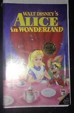 Walt Disney Black Diamond VHS Tape Alice in Wonderland New and Sealed