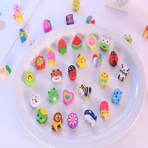 2pcs cartoon eraser cute creative children learning stationery