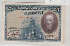 ESPAGNE SPAIN 25 PESETAS 1928 SPL