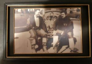 BABE RUTH AND LOU GEHRIG PICTURE 8X10 FRAMED ON A HUNTING TRIP