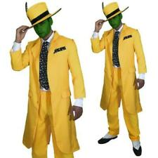 90s Fancy Dress Men's Yellow Gangster Suit The Mask Jim Carrey Costume