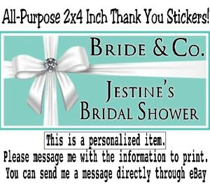 20 Tiffany & Co Blue Birthday Party Baby Bridal Shower All Purpose Stickers