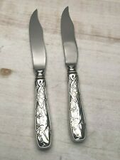 "Audubon by Tiffany Sterling pair of Fish Knives 8 3/8"""