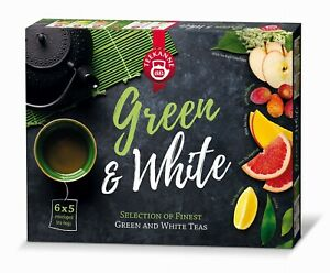 Teekanne Finest Green & White Natural Tea Collection Selection Box 6 Flavors