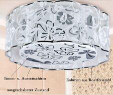 Design Deckenlampe Deckenleuchte mit Innen- u. Aussstoffschirm Ø45cm*19cm