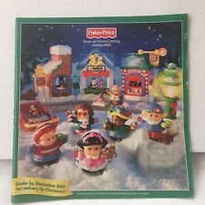 Fisher Price Little People Holiday 2003 CATALOG Shop-at-Home Christmas Sets