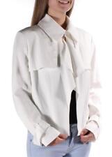 ANNE KLEIN Womens Designer Ivory NOTCHED COLLAR JACKET BLAZER SZ 12 NWT