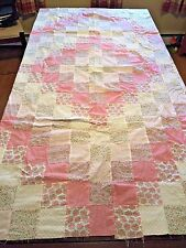 Pastel Pink and Green Twin Quilt Handmade by my Mom UNFINISHED Quilt Top (L)