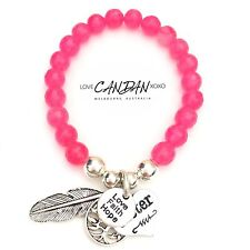 Love Hope Faith Sister Bracelet With Tree If Life And Angel Feather Charm Rose