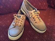 Sperry Top Sider Women's Canvas Boat Shoes Sz:7.5 US Leather Ties