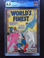 WORLD'S FINEST COMICS #120 CGC FN+ 6.5; CM-OW; Tommy Tomorrow! scarce!